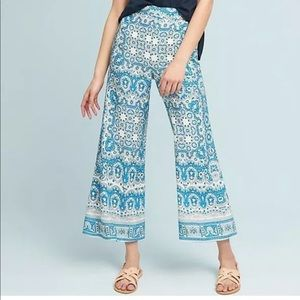 ANTHROPOLOGIE Feather Bone Talese Printed Pants